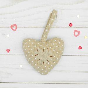 Мягкая игрушка-подвеска «Двойное сердце», со стежками, цвета МИКС