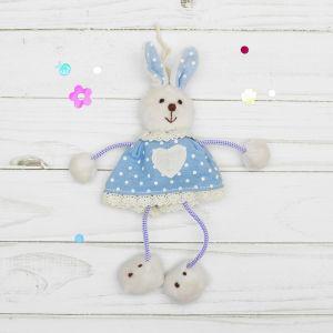 Мягкая игрушка-подвеска «Заинька», в платье с сердцем, цвета МИКС