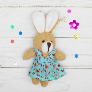 Мягкая игрушка-подвеска «Заинька», в сарафане, цвета МИКС