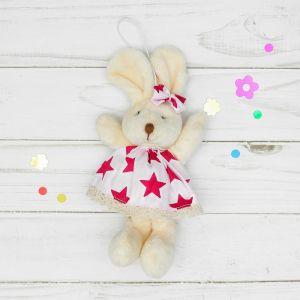 Мягкая игрушка-подвеска «Заинька», звезды на одежде, цвета и виды МИКС