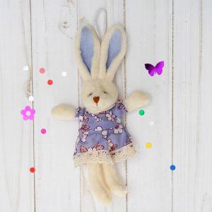 Мягкая игрушка-подвеска «Заинька», платье с кружевом, цвета МИКС