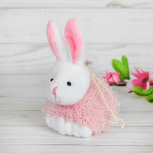 Мягкая игрушка-подвеска «Заинька», с лапками, цвета МИКС
