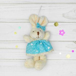 Мягкая игрушка-подвеска «Заинька», сердца на одежде, цвета и виды МИКС