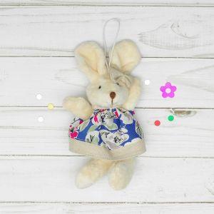 Мягкая игрушка-подвеска «Заинька», серый бантик, цвета и виды МИКС
