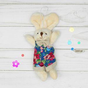 Мягкая игрушка-подвеска «Заинька», цветы на одежде, цвета МИКС