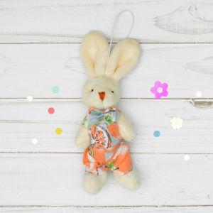Мягкая игрушка-подвеска «Зайка на курорте» цвета и виды МИКС