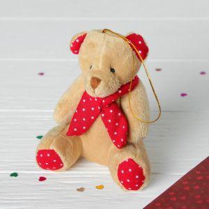 Мягкая игрушка-подвеска «Медведь в шарфике», цвета МИКС