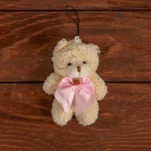 Мягкая игрушка-подвеска «Мишка с бантом», цвета МИКС