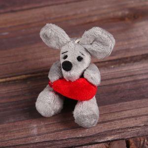 Мягкая игрушка-подвеска «Мышонок с сердцем в лапках», виды МИКС