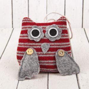 Мягкая игрушка-подвеска «Совушка большие глазки», цвета МИКС