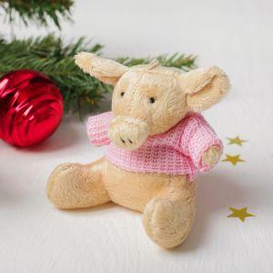 Мягкая игрушка-подвеска «Хрюша в свитере», цвета МИКС
