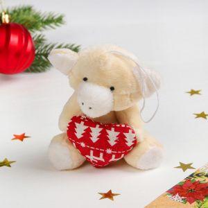 Мягкая игрушка-подвеска «Хрюша», в лапках сердце, цвета МИКС