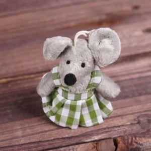 Мягкая игрушка-подвеска «Мышка», одежда в клеточку, цвета и виды МИКС