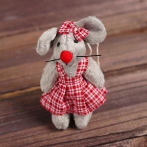Мягкая игрушка-подвеска «Мышка», полосатый костюмчик, виды МИКС