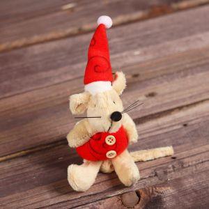 Мягкая игрушка-подвеска «Мышонок в колпаке», цвета МИКС
