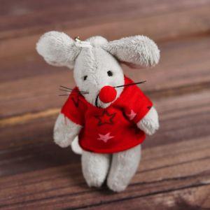 Мягкая игрушка-подвеска «Мышонок», кофта со звёздами, цвета МИКС