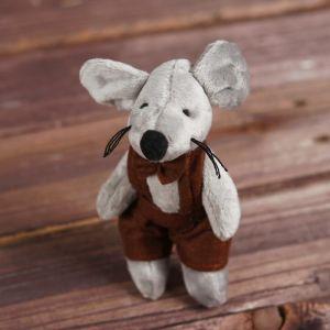 Мягкая игрушка-подвеска «Мышонок», одежда МИКС