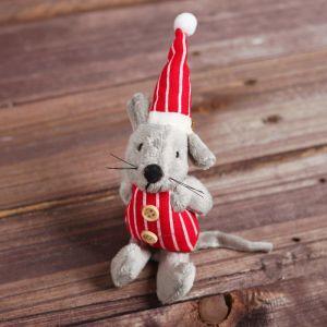 Мягкая игрушка-подвеска «Серый мышонок», одежда МИКС