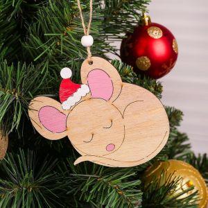 Подвеска новогодняя «Мышка засыпает»