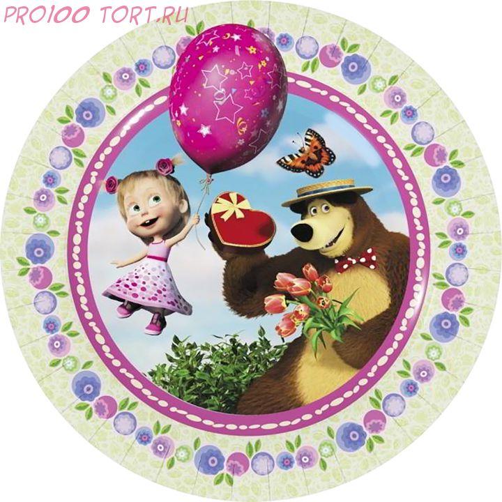 Вафельная картинка на торт, капкейки, пряники   Детский праздник №79 (D-14,5)