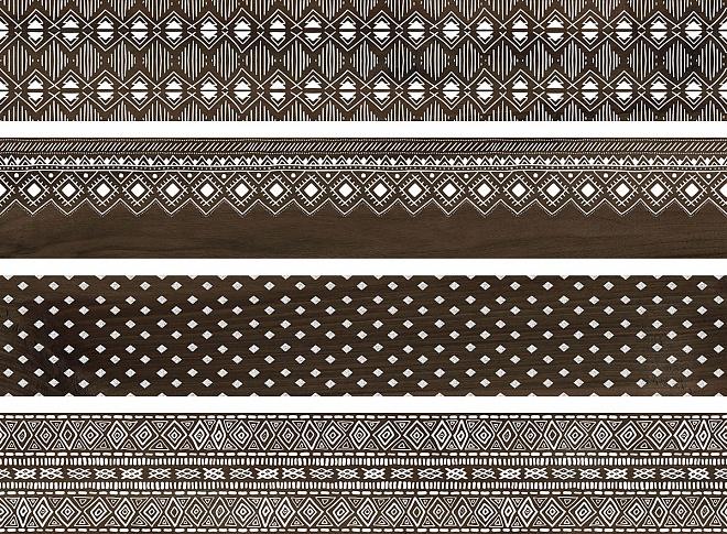 DL510400R | Про Вуд коричневый декорированный обрезной