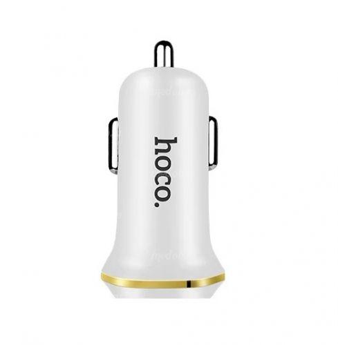 Автомобильное зарядное устройство HOCO Z1 White