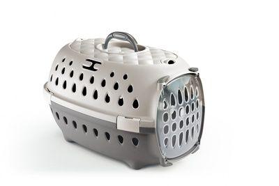 Переноска для транспортировки Stefanplast Gulliver Travel Chic до 6кг персиковая с пластиковой дверцей 48х32х31см для кошек и собак