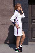 спорт-шик платье с лампасами