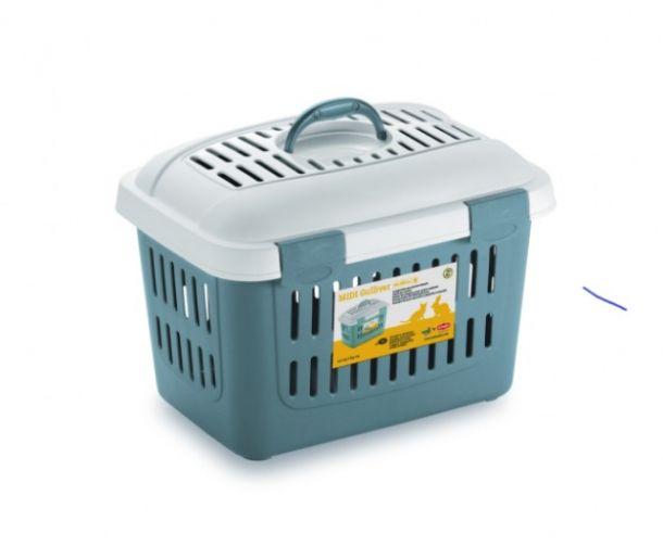 Переноска Stefanplast Midi Gulliver синяя (до 5кг) для собак и кошек 45см