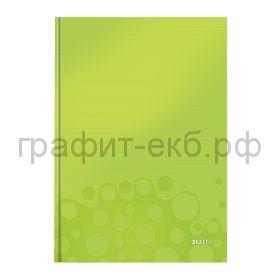 Тетрадь А5 80л.кл.Leitz WOW твердая обложка зеленый 46281064