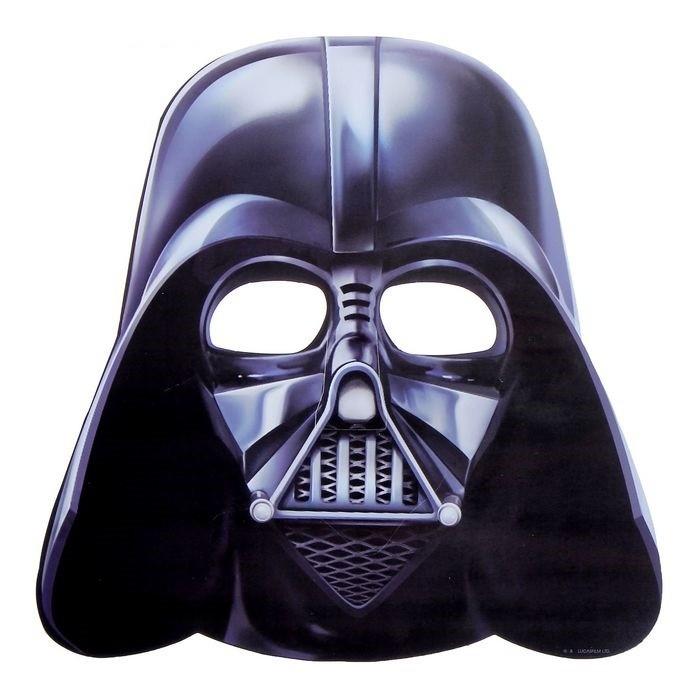 Картонная маска Дарт Вейдер