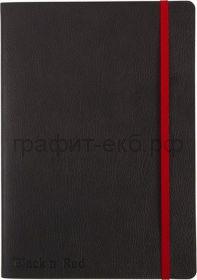 Тетрадь В5 72л.лин.Oxford Black'n'Red резинка карман мяг.обложка 400051203