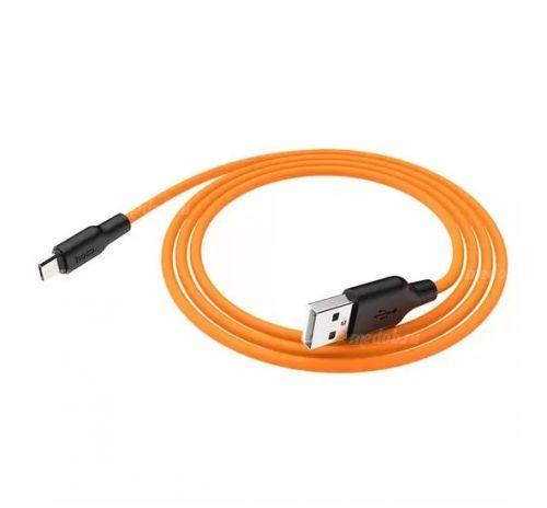 Кабель HOCO X21 Silicone Cable Micro-USB (L=1M), Black&Orange