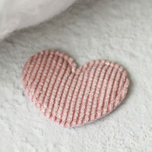 Кукольный аксессуар Сердечко пыльная роза с люрексом 5 шт