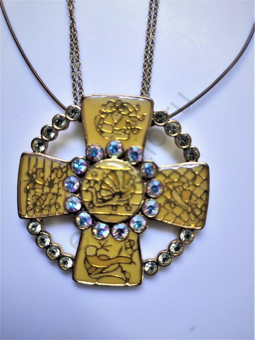 Колье PILGRIM 380921. Коллекция Yellow gold