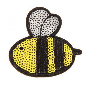 Декор на булавке «Пчёлка» для одежды, сумок, обуви