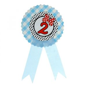 Значок «2», бантик, голубой цвет