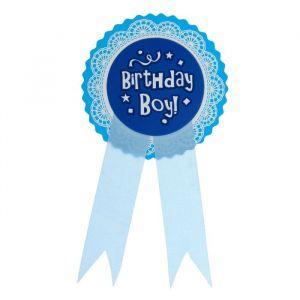 Значок «День рождение мальчика», голубой цвет