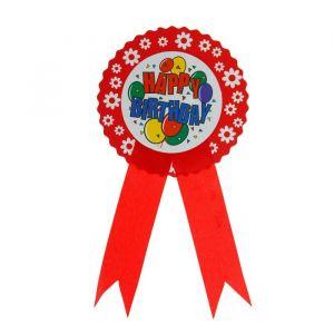 Значок «С днём рождения», шарики, цвета МИКС