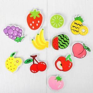 Набор магнитов «Ягоды и фрукты», 12 шт. в наборе, 3,5 ? 3,5 см