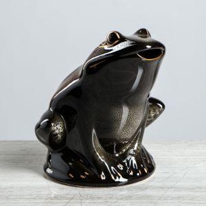 """Копилка """"Жаба"""", глазурь, коричневый цвет, 21 см, микс"""