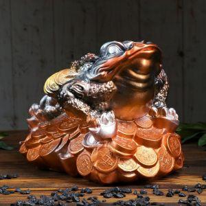 """Копилка """"Жаба"""", глянец, золотистый цвет, 23 см"""