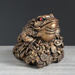 """Копилка """"Жаба"""", глянец, бронзовый цвет, 17 см"""