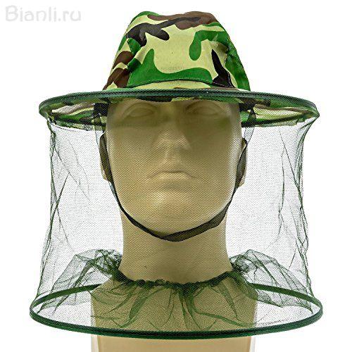 Aнтимоскитная камуфляжная шляпа