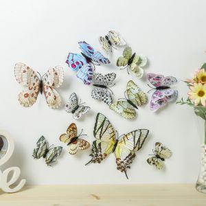 """Магнит пластик """"Бабочки"""" набор 12 шт МИКС h=4,4,5,5,6,8,9,5,13,5,14,5 см   3746971"""