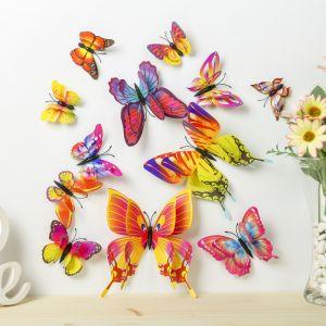 """Магнит пластик """"Летние бабочки"""" набор 12 шт МИКС h=4,4,5,5,6,8,9,5,13,5,14,5 см   3746969"""