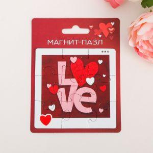Магнит-пазл Love