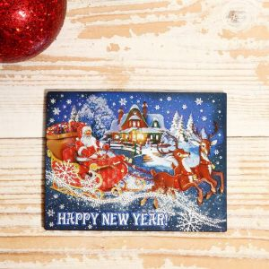 """Магнит """"Новый год и Рождество: """"Санта Клаус"""" 7х9см   4558314"""