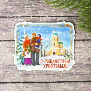 Магнит «Рождественская прогулка»