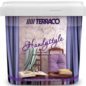Краска Перламутровая Terraco Handystyle 5кг Полупрозрачная, Декоративная Цвет 1017 / Террако Хэндистайл